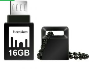 Strontium 16-gb nitro on- the -go(OTG) USB 3.0 flash drive(Black